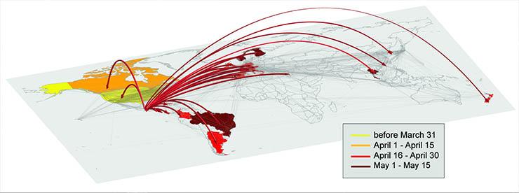 A 2009-es H1N1 vírus terjedése