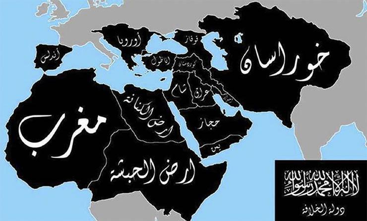 Az Iszlám Állam térképe - reméljük soha nem válik valóra