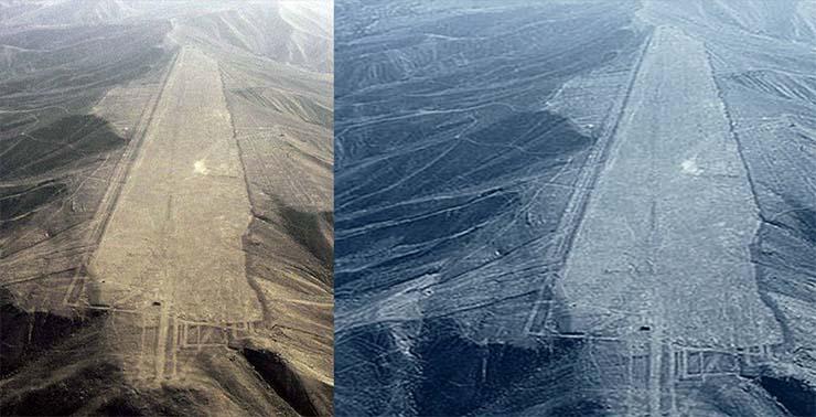 A vonalak - akárcsak a Nazca-vonalak esetében - ősi leszállópályák is lehetnek.