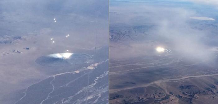 Rejtélyes fények és objektumok az 51-es körzet felett, melyeket korábban észleltek.